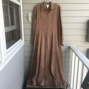 SOFT SURROUNDINGS Rayon A-Line Shirt Dress M
